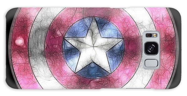Captain America Shield Digital Painting Galaxy Case