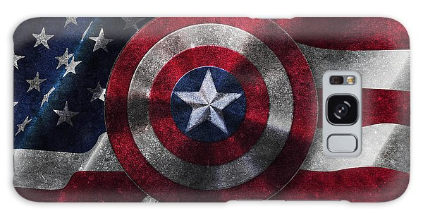 Captain America Shield On Usa Flag Galaxy Case