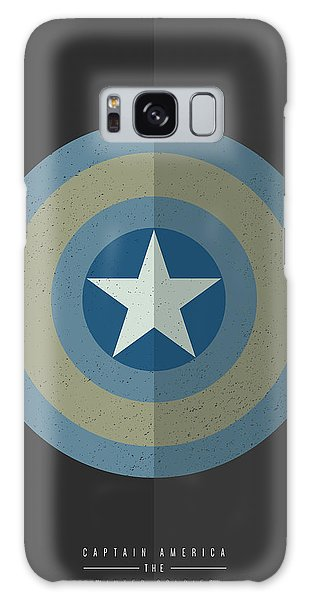 Captain America Winter Soldier Galaxy Case by Mike Taylor
