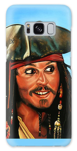 Rolling Stone Magazine Galaxy Case - Captain Jack Sparrow Painting by Paul Meijering
