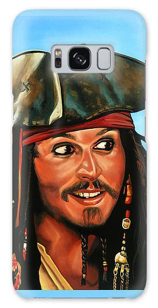 Tides Galaxy Case - Captain Jack Sparrow Painting by Paul Meijering