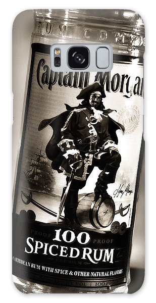 Captain Morgan Black And White Galaxy Case