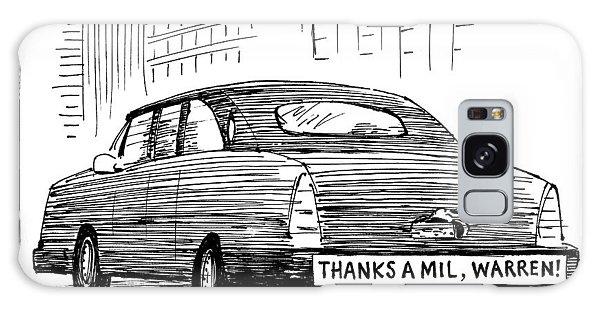 Captionless. Bumper Sticker On Car Reads: Thanks Galaxy Case