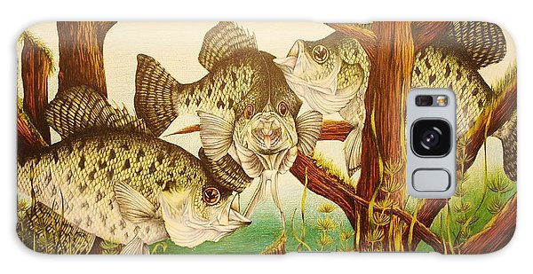 Captivating Crappies Galaxy Case by Bruce Bley