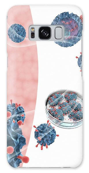Biomedical Engineering Galaxy Case - Car T Cell Cancer Immunotherapy by Gunilla Elam/science Photo Library