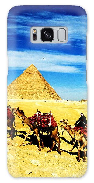 Caravan Of Camels 2 Galaxy Case by Alison Tomich