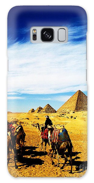 Caravan Of Camels Galaxy Case
