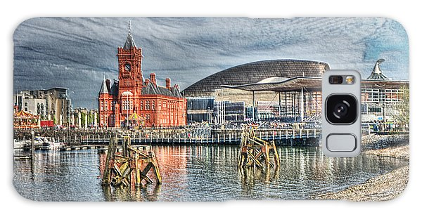 Cardiff Bay Textured Galaxy Case