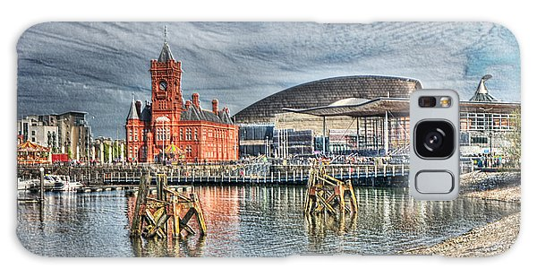 Cardiff Bay Textured Galaxy Case by Steve Purnell