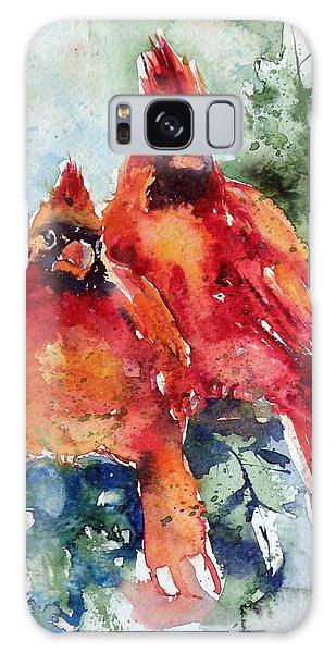 Cardinal Birds Galaxy Case
