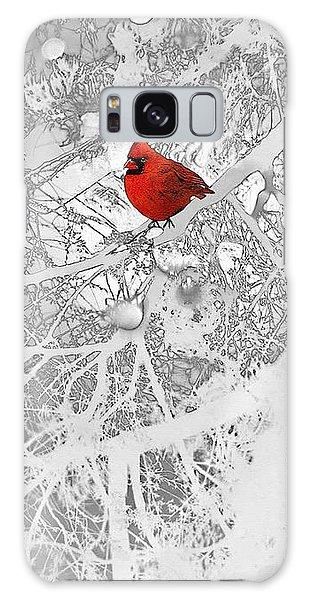 Cardinal In Winter Galaxy Case