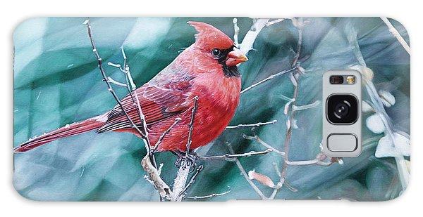 Hyper-realistic Galaxy Case - Cardinal In Winter by Joshua Martin
