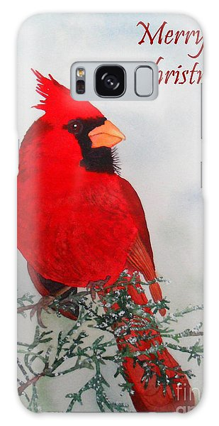 Cardinal Merry Christmas Galaxy Case