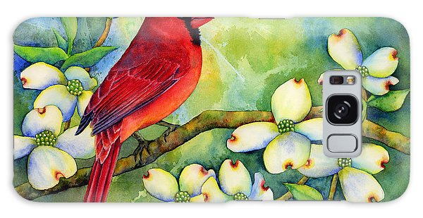 Cardinal Galaxy Case - Cardinal On Dogwood by Hailey E Herrera