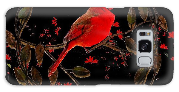 Cardinal On Metal Wreath Galaxy Case