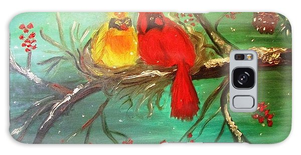 Cardinals Winter Scene Galaxy Case