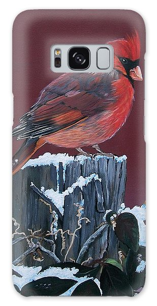 Cardinal Winter Songbird Galaxy Case