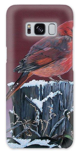 Cardinal Winter Songbird Galaxy Case