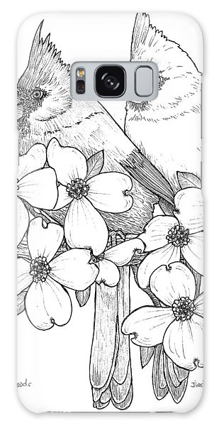 Cardinals And Dogwoods Galaxy Case