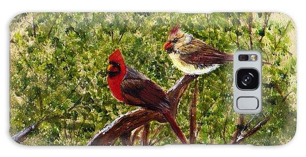 Cardinals Galaxy Case by Catherine Swerediuk