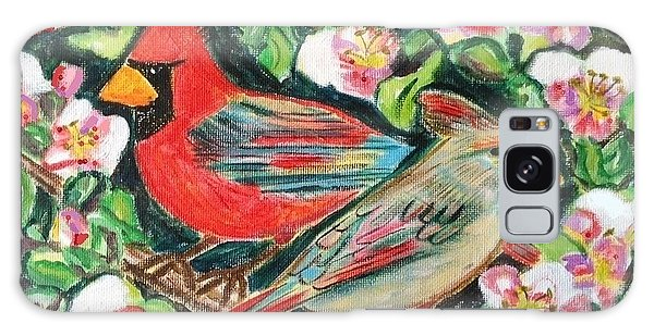 Cardinals In An Apple Tree Galaxy Case