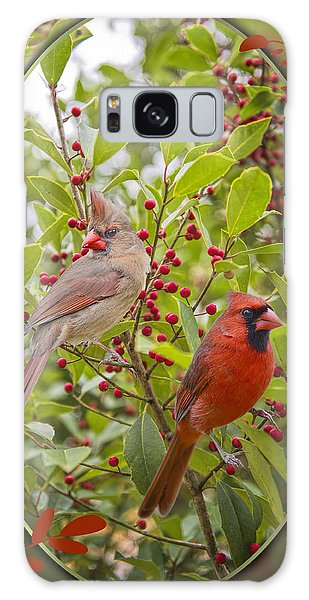 Cardinals In Holly Galaxy Case