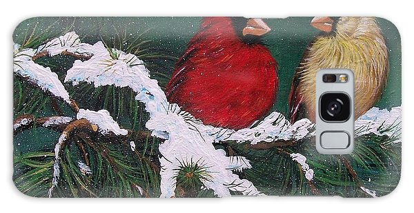 Cardinals In The Snow Galaxy Case
