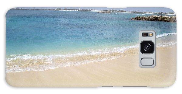 Caribbean Beach Front Galaxy Case by Fiona Kennard