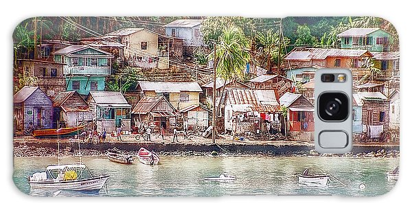 Caribbean Village Galaxy Case by Hanny Heim