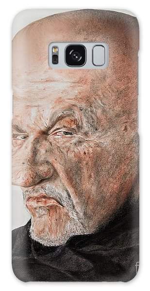 Hyper-realistic Galaxy Case - Caricature Of Actor Jonathan Banks As Mike Ehrmantraut In Breaking Bad by Jim Fitzpatrick