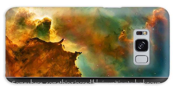 Carl Sagan Quote And Carina Nebula 3 Galaxy Case