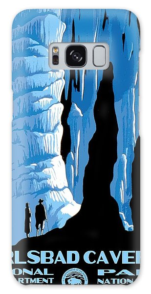 Carlsbad Caverns National Park Vintage Poster Galaxy Case