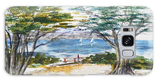 Board Walk Galaxy Case - Carmel By The Sea California by Irina Sztukowski