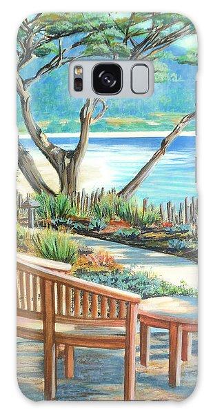 Carmel Lagoon View Galaxy Case by Jane Girardot