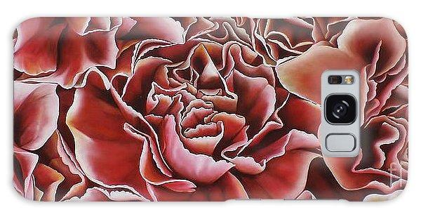 Carnations Galaxy Case by Paula Ludovino