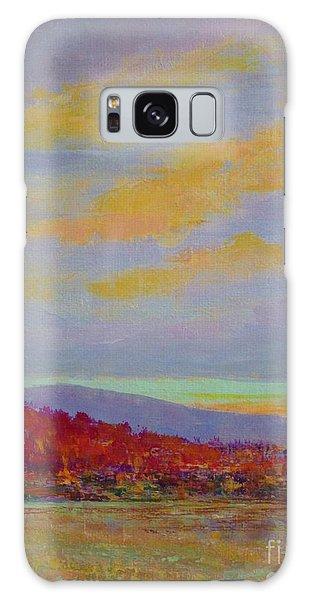 Carolina Autumn Sunset Galaxy Case