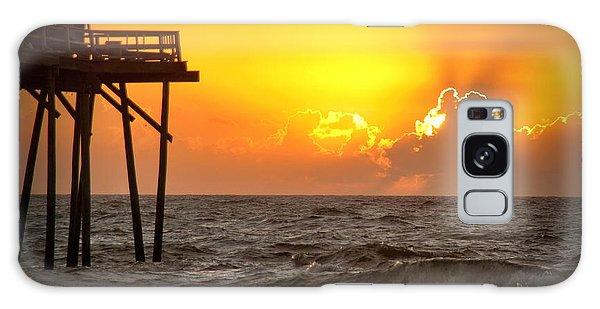 Carolina Beach Fishing Pier Sunrise Galaxy Case by Phil Mancuso