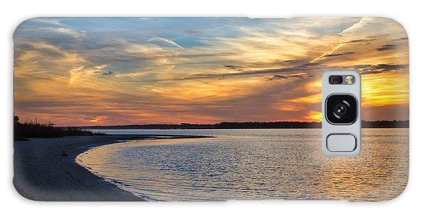 Carolina Beach River Sunset II Galaxy Case by Phil Mancuso