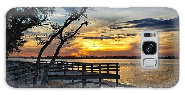 Carolina Beach River Sunset Galaxy Case