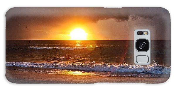 Carolina Beach Sunrise Galaxy Case