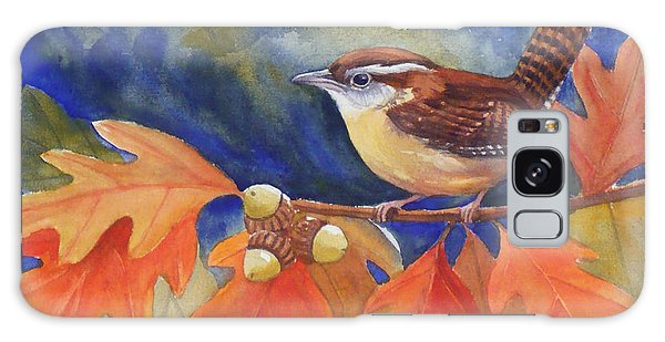Carolina Wren In Autumn Galaxy Case