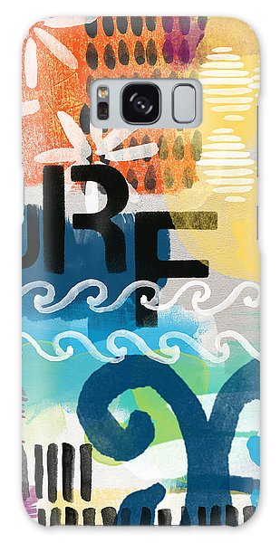 Beach Galaxy Case - Carousel #7 Surf - Contemporary Abstract Art by Linda Woods