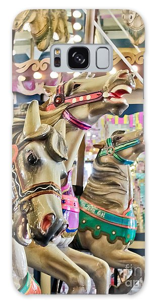 Carousel At Casino Pier Galaxy Case by Colleen Kammerer
