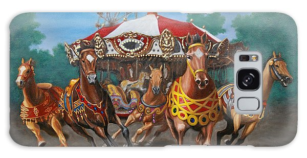Carousel Escape At The Park Galaxy Case by Jason Marsh