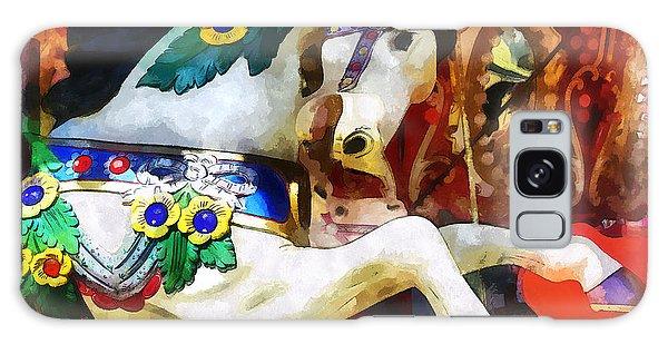 Carousel Horse Closeup Galaxy Case by Susan Savad