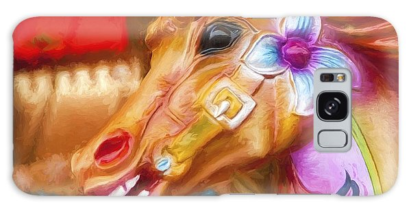Carousel Horse. Galaxy Case