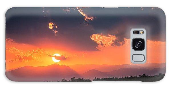 Carpathian Sunset Galaxy Case by Mihai Andritoiu