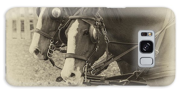 Carriage Horses I Galaxy Case by Terry Rowe