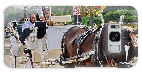 Carriage Ride Down River Road Galaxy Case