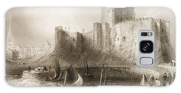 Bay Galaxy Case - Carrickfergus Castle, County Antrim, Northern Ireland, From Scenery And Antiquities Of Ireland by William Henry Bartlett